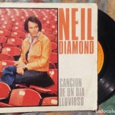 Discos de vinilo: NEIL DIAMOND - CANCIÓN DE UN DÍA LLUVIOSO (DISCOS CBS, 1982). Lote 135430258
