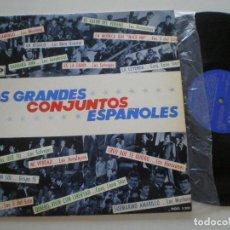 Discos de vinilo: LOS GRANDES CONJUNTOS ESPAÑOLES -LP ODEON 1966// LOS SALVAJES HURACANES MOD GARAGE BEAT FREAKBEAT. Lote 135433218
