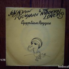 Discos de vinilo: JONATHAN RICHMAN & THE MODERM LOVERS - EGYPTIAN REGGAE + ROLLER COASTER BY THE SEA. Lote 135438390