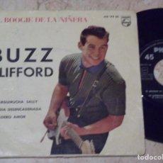 Discos de vinilo: BUZZ CLIFFORD - EP- EL BOOGIE DE LA NIÑERA (BABY SITTIN' BOOGIE) +3, EDICION ESPAÑOLA. Lote 135439082