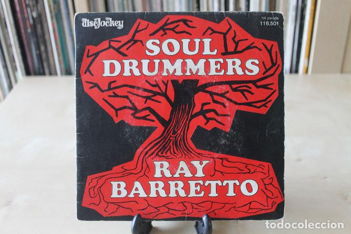 Discos de vinilo: RAY BARRETTO - SG- SOUL DRUMMERS / MERCY, MERCY BABY FRENCH ED - Foto 1 - 135462338