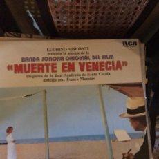 Discos de vinilo: LUCHINO VISCONTI - MUERTE EN VENECIA, BANDA SONORA - LP RCA SPAIN 1972. Lote 135463162