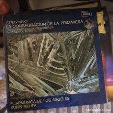Discos de vinilo: LP STRAVINSKY : LA CONSAGRACION DE LA PRIMAVERA - ZUBIN MEHTA - DECCA. Lote 135464950
