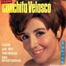 Discos de vinilo: CONCHITA VELASCO / CALOR + 3 (EP 1965). Lote 135474762