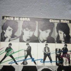 Discos de vinilo: PATO DE GOMA -CHICOS MALOS -. Lote 135476250