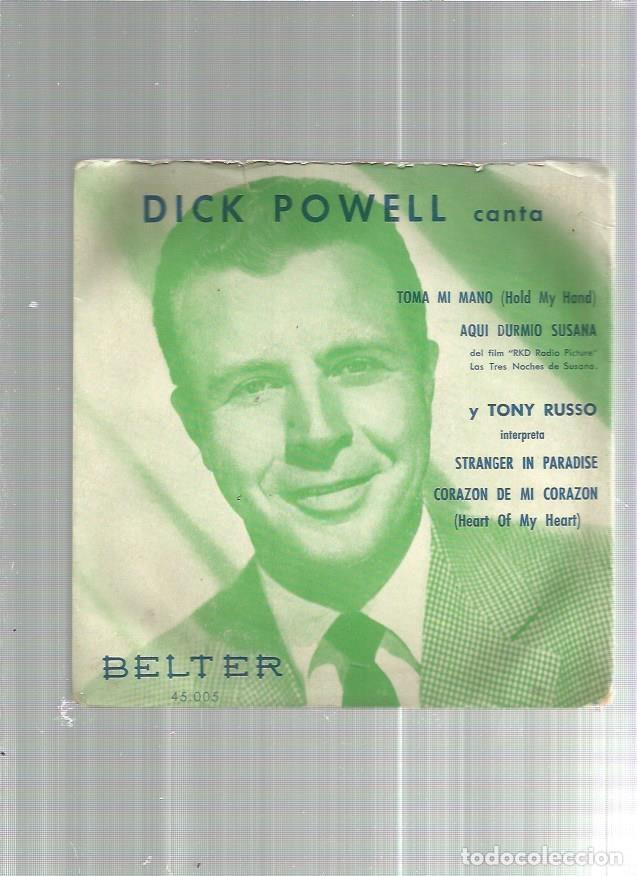 DICK POWELL TOMA MI MANO (Música - Discos de Vinilo - EPs - Pop - Rock Extranjero de los 50 y 60)