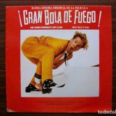 Discos de vinilo: LP BANDA SONORA - JERRY LEE LEWIS - GRAN BOLA DE FUEGO . Lote 135500534