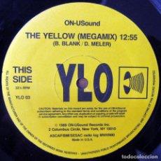 Discos de vinilo: YLO - THE YELLOW, MEGAMIX - MIX - 1989 - HOUSE. Lote 135504862