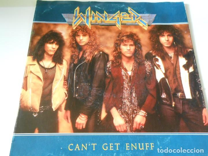 WINGER, SG, CAN´T GET ENUFF + 1, AÑO 1990 MADE IN GERMANY (Música - Discos - Singles Vinilo - Heavy - Metal)