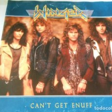 Discos de vinilo: WINGER, SG, CAN´T GET ENUFF + 1, AÑO 1990 MADE IN GERMANY. Lote 135509414