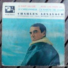 Discos de vinilo: CHARLES AZNAVOUR 1961. Lote 135518006