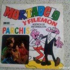 Discos de vinilo: SINGLE DE MOTADELO Y FILEMON DE PARCHIS. Lote 135522482