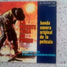 Discos de vinilo: DISCO BANDA SONORA DE LA PELICULA LA MUERTE TENIA UN PRECIO. Lote 135523174