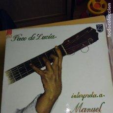 Discos de vinilo: LP PACO DE LUCIA. Lote 135524998