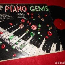 Discos de vinilo: AN HOUR OF PIANO GEMS LISZT+SCHUMAN+CHOPIN+SCHUBERT+ETC... LP PLYMOUTH EDICION AMERICANA USA. Lote 135541214