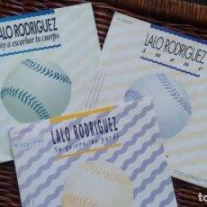 Discos de vinilo: LOTE DE 3 SINGLES (VINILO) DE LALO RIODRIGUEZ. Lote 135548394