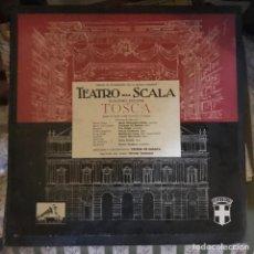 Discos de vinilo: - TOSCA - TEATRO ALLA SCALA - GIACOMO PUCHINI - ÁLBUM CON 2 DISCOS - LA VOZ DE SU AMO 1963. Lote 135562574