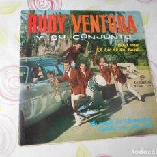 Discos de vinilo: VINILO SINGLE DE RUDY VENTURA Y SU CONJUNTO AÑO 1962 4 CANCIONES IMPECABLE. Lote 135565790