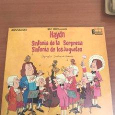 Discos de vinilo: JAYDN SINFONÍA DE LA SORPRESA. Lote 135575949