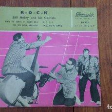 Discos de vinilo: EP A 45 RPM DEL CANTANTE NORTEAMERICANO DE ROCK AND ROLL, BILL HALEY ANS HIS COMETS. Lote 135604850