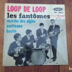 Discos de vinilo: EP A 45 RPM DEL GRUPO INSTRUMENTAL FRANCES DE ROCK AND ROLL, LES FANTOMES. Lote 135606534