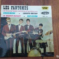 Discos de vinilo: EP A 45 RPM DEL GRUPO INSTRUMENTAL FRANCES DE ROCK AND ROLL, LES FANTOMES. Lote 135608750