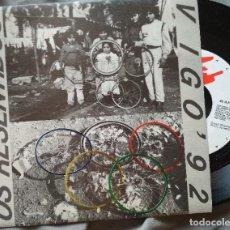 Discos de vinilo: OS RESENTIDOS - VIGO '92. SINGLE PROMOCIONAL.. Lote 135613470