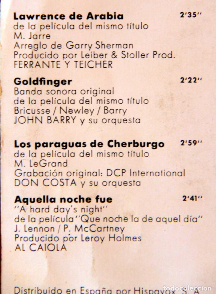 Discos de vinilo: H3 BANDA SONORA ZORBA/THEODORAKIS+BEATLES+GOLDFINGER+LAWRENCE+CHERBURGO-POLYDOR/UNITED ARTIST 1960s - Foto 3 - 135614974