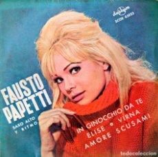Discos de vinilo: H9 FAUSTO PAPETTI - DURIUM/PHILLIPS/CLUMBIA 1965 - ITALIANO. Lote 135618278