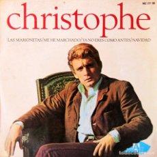 Discos de vinilo: H10 CHRISTOPHE: LAS MARIONETAS, ETC - HISPAVOX 1965. Lote 135618418
