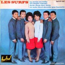 Discos de vinilo: H11 LES SURFS: TU SERAS MI BABY, ETC - HISPAVOX 1963. Lote 135618586