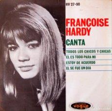 Discos de vinilo: H12 FRANÇOISE HARDY - TODOS LOS CHICOS Y CHICAS - HISPAVOX/VOGUE 1963. Lote 135618662