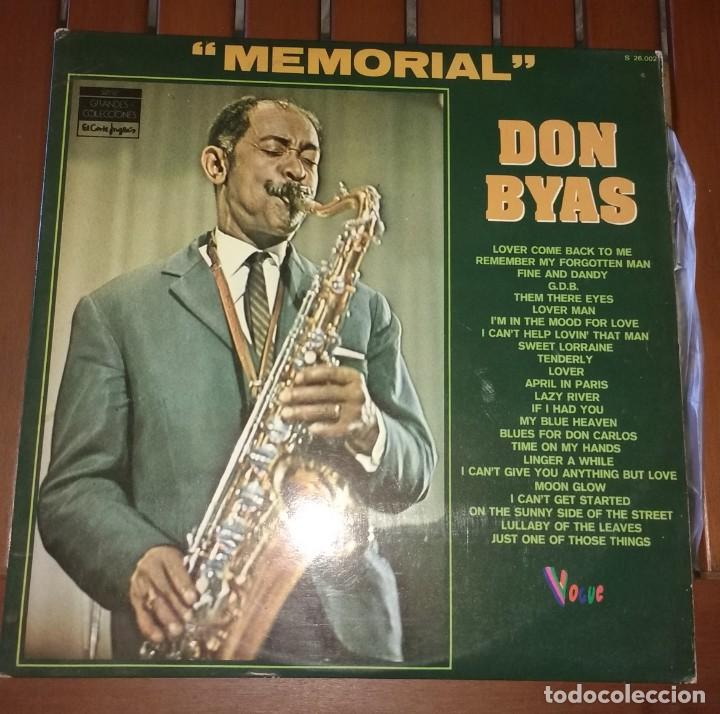 DON BYAS - MEMORIAL . 2 LP (Música - Discos - LP Vinilo - Jazz, Jazz-Rock, Blues y R&B)