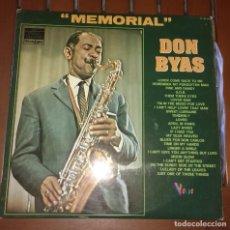 Discos de vinilo: DON BYAS - MEMORIAL . 2 LP. Lote 135621930