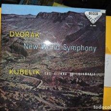 Discos de vinilo: DVORAK NEW WORLD SYMPHONY. KUBELIK THE VIENNA PHILHARMONIC. 1967. Lote 135649551