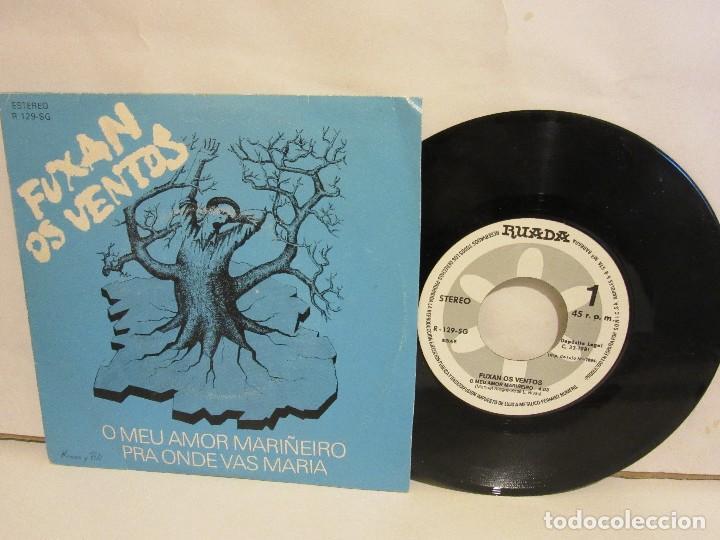 FUXAN OS VENTOS - O MEU AMOR MARIÑEIRO - SINGLE - RUADA - 1981 - SPAIN - VG+/VG (Música - Discos - Singles Vinilo - Country y Folk)