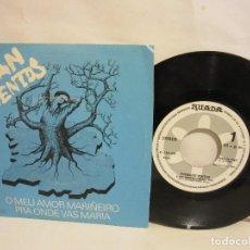 Discos de vinilo: FUXAN OS VENTOS - O MEU AMOR MARIÑEIRO - SINGLE - RUADA - 1981 - SPAIN - VG+/VG. Lote 135655187