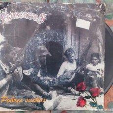 Discos de vinilo: PROSCRITOS - POBRES SUEÑOS (GRABACIONES INTERFERENCIAS, 1991). Lote 135666411