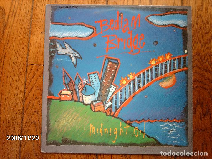 MIDNIGHT OIL - BEDLAM BRIDGE + PROGRESS + STAND IN LINE (Música - Discos de Vinilo - Maxi Singles - Pop - Rock Internacional de los 90 a la actualidad)