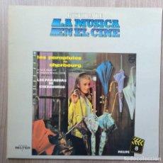 Discos de vinilo: MUSICA, LP. LP´S, DISCO VINILO, LOS PARAGUAS DE CHERBOURGO, LES PARAPLUIES DE CHERBOURG, CINE. Lote 135675659