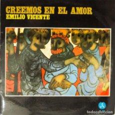 Discos de vinilo: LP. EMILIO VICENTE MATEU. CREEMOS EN EL AMOR. (VG+/VG+). Lote 135682767