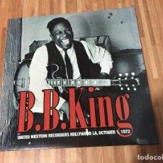 Discos de vinilo: B.B. KING ?– UNITED WESTERN RECORDERS HOLLYWOOD LA, OCTOBER 1, 1972. Lote 135684535