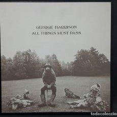 Discos de vinilo: GEORGE HARRISON - BEATLES - ALL THINGS MUST PASS - CAJA - 3 LPS - USA - APPLE - EXCELENTE - RARA. Lote 135691147