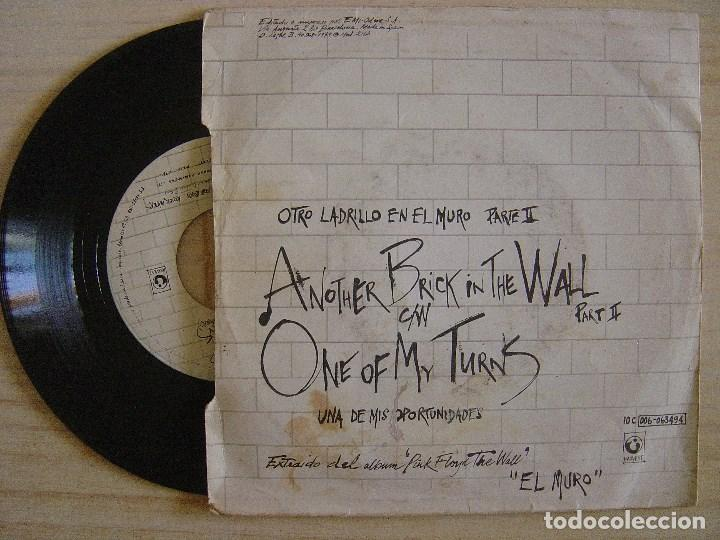 Discos de vinilo: PINK FLOYD - another brick in the wall + one of my turns - SINGLE 1979 - HARVEST - Foto 2 - 135698063