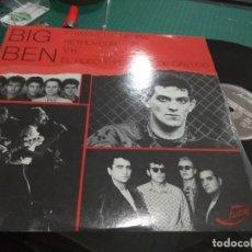 Discos de vinilo: LP RARO 1986 BIG BEN PRIMAVERA NEGRA RETROVISOR VH EL RUSO Y PELOTÓN DE CASTIGO VG++. Lote 135709143