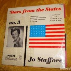 Discos de vinilo: JO STAFFORD. STARS FROM THE STATES. VOL 3. PHILIPS. 10 PULGADAS. EDC. INGLESA. Lote 135709575