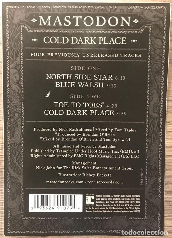 MASTODON - COLD DARK PLACE - 10 SINGLE PICTURE DISC- AÑO 2017 (Música - Discos de Vinilo - Maxi Singles - Heavy - Metal)