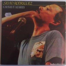 Discos de vinilo: SILVIO RODRIGUEZ - CAUSAS Y AZARES- 2 LP 1986 FONOMUSIC EDICIÓN ESPAÑOLA. Lote 135735991