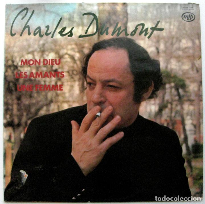 CHARLES DUMONT - MON DIEU / LES AMANTS / UNE FEMME - LP MUSIC FOR PLEASURE 1976 BPY (Música - Discos - LP Vinilo - Canción Francesa e Italiana)