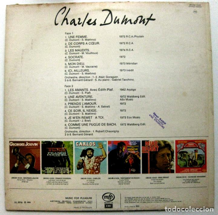 Discos de vinilo: Charles Dumont - Mon Dieu / Les Amants / Une Femme - LP Music For Pleasure 1976 BPY - Foto 2 - 135752574